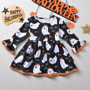 Other - Halloween Ghost Girls Long Sleeve Ruffle Dress